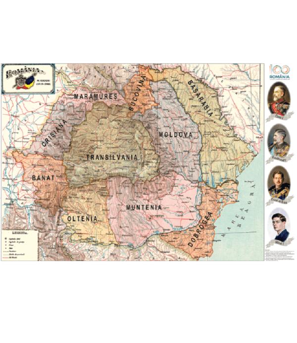Harta Romaniei pe regiuni