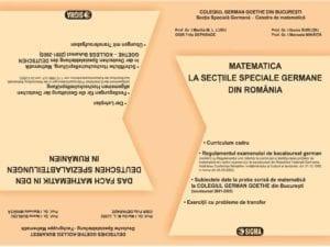Matematica Bacalaureat la sectiile speciale germane din Romania