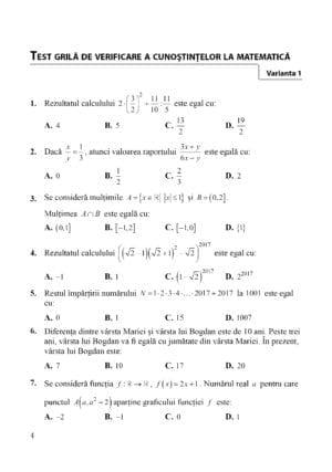 matematica admitere colegii militare, pag 4