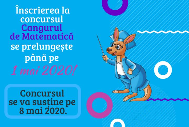 Înscrierea la ConcursulInternațional de Matematică Aplicată Cangurulse prelungește până pe data de 1 mai 2020