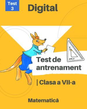 Test 3 – Clasa a VII-a