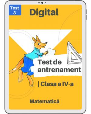 Test 3 – Clasa a VI-a