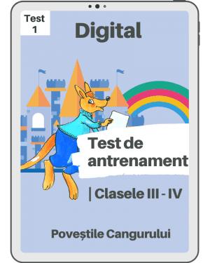 Test 1 – Povestile Cangurului – Clasele III-IV