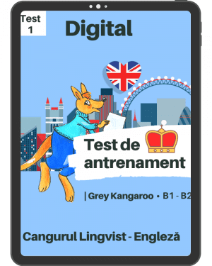 Test 1 antrenament – engleza – Grey Kangaroo