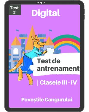 Test 2 – Povestile Cangurului – Clasele III-IV