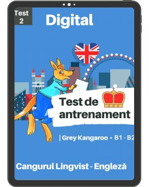 Test 2 antrenament – engleza – Grey Kangaroo