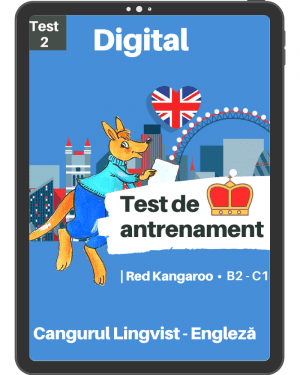Test 2 antrenament – engleza – Red Kangaroo