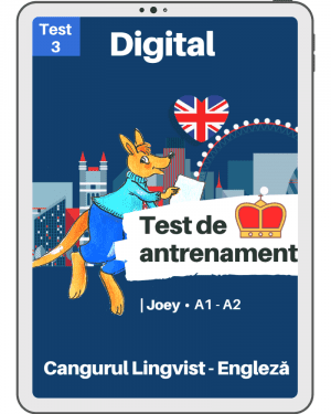 Test 3 antrenament – engleza – Joey