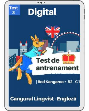 Test 3 antrenament – engleza – Red Kangaroo