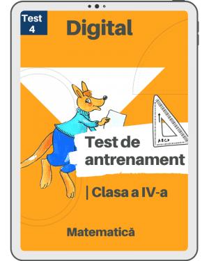 Test 4 – Cangurul Matematician – Clasa a IV-a