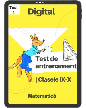 Test 1 de antrenament – Clasele IX – X – Mate