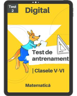 Test 2 de antrenament – Clasele V – VI – Mate