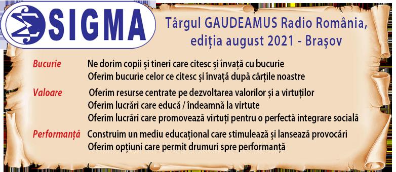 SIGMA la GAUDEAMUS Brașov 2021